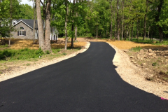paving a driveway at a new house in Etters PA picture 1