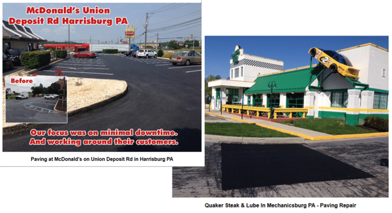 commercial job for paving contractor