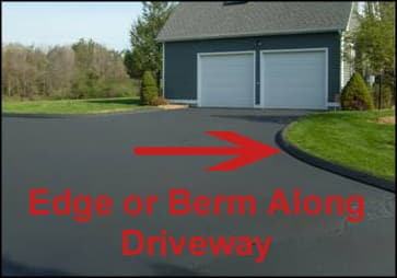 Berm Or Edge Along Driveway On How Much Is Paving A Driveway