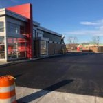 New Wendy's. Whitehall Pa consist of 8 inches stone base 2 inches of binder 2 inches of topcoat for commercial paving